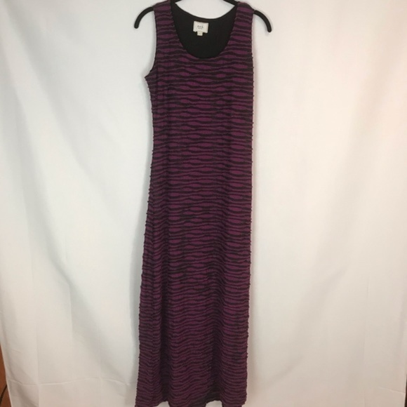 ECI Dresses & Skirts - eci Sz S Purple+Black Ruffled Layer Maxi Dress